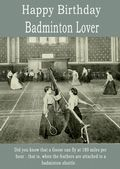 Happy Birthday Badminton Lover - 1
